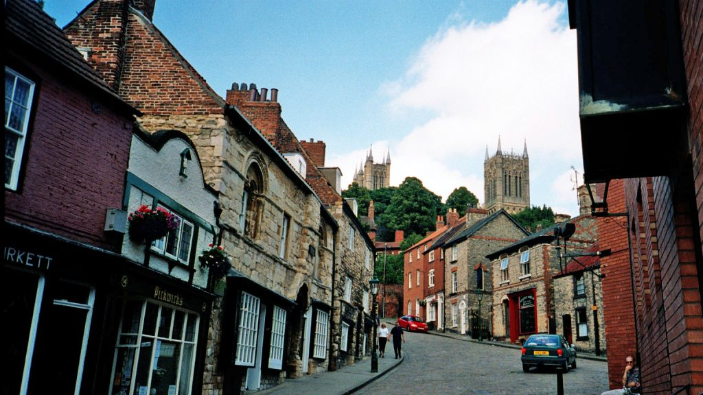 Steep Hill in Lincoln, UK